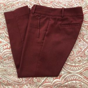 The Limited Classic Pencil Pants - Red Sz 4